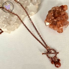 Gold Goldstone Copper Healing Toggle Necklace